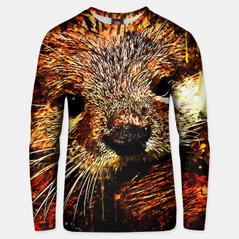 Thumbnail image of gxp furry fish otter splatter watercolor Unisex sweater, Live Heroes