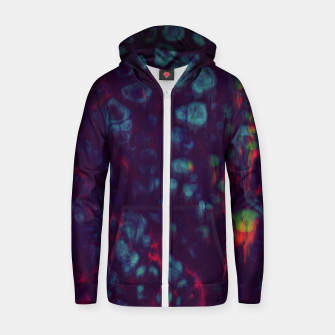 Miniaturka Synthwave - Abstract Glitchy Pixel Art Zip up hoodie, Live Heroes
