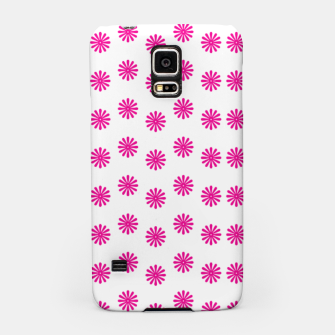 Thumbnail image of Magenta Flowers Pattern Design Samsung Case, Live Heroes