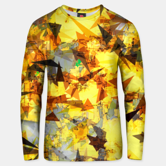 Thumbnail image of geometric triangle pattern abstract in yellow brown black Unisex sweater, Live Heroes