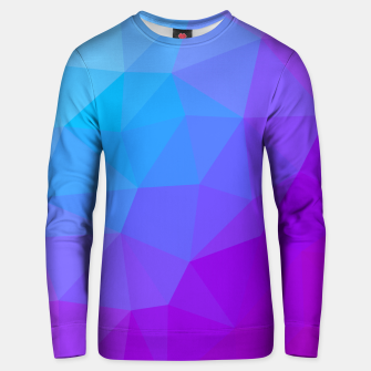 Thumbnail image of gxp geometric triangle pattern blue purple Unisex sweater, Live Heroes