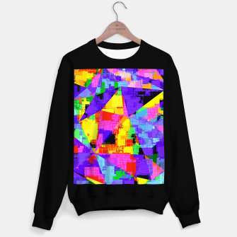 Miniature de image de geometric triangle abstract background in purple blue pink yellow Sweater regular, Live Heroes
