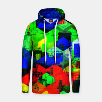 Miniature de image de geometric square pattern abstract in green blue red Hoodie, Live Heroes