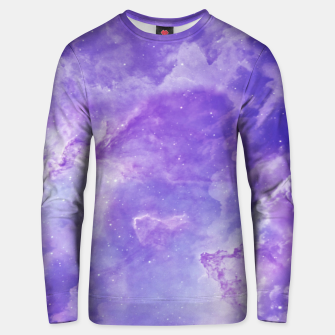 Thumbnail image of Violet clouds galaxy Unisex sweater, Live Heroes