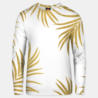 Thumbnail image of Gold Palm Leaves Vibes #1 #shiny #tropical #decor #art Unisex sweatshirt, Live Heroes