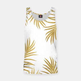 Miniatur Gold Palm Leaves Vibes #1 #shiny #tropical #decor #art Muskelshirt , Live Heroes