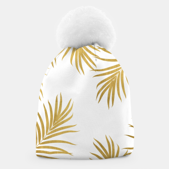 Thumbnail image of Gold Palm Leaves Vibes #1 #shiny #tropical #decor #art Mütze, Live Heroes