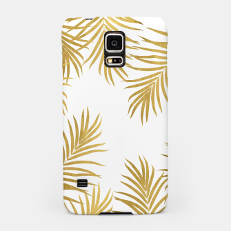 Thumbnail image of Gold Palm Leaves Vibes #1 #shiny #tropical #decor #art Handyhülle für Samsung, Live Heroes
