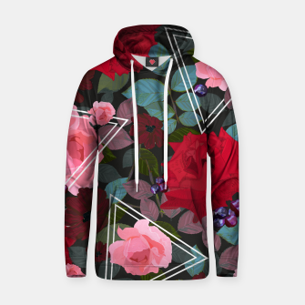 Thumbnail image of Triangles with vintage red pink roses and chocalate cosmos flower pattern Hoodie, Live Heroes
