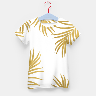 Thumbnail image of Gold Palm Leaves Vibes #1 #shiny #tropical #decor #art T-Shirt für kinder, Live Heroes