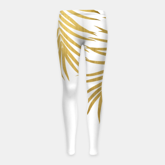 Thumbnail image of Gold Palm Leaves Vibes #1 #shiny #tropical #decor #art Kinder-Leggins, Live Heroes