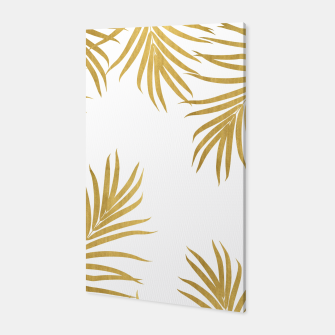 Thumbnail image of Gold Palm Leaves Vibes #1 #shiny #tropical #decor #art Canvas, Live Heroes