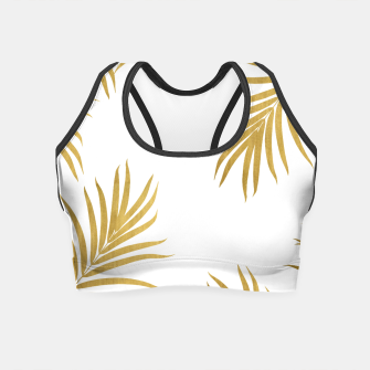 Miniaturka Gold Palm Leaves Vibes #1 #shiny #tropical #decor #art Crop Top, Live Heroes