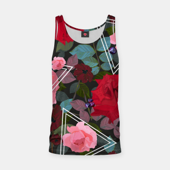 Thumbnail image of Triangles with vintage red pink roses and chocalate cosmos flower pattern Tank Top, Live Heroes
