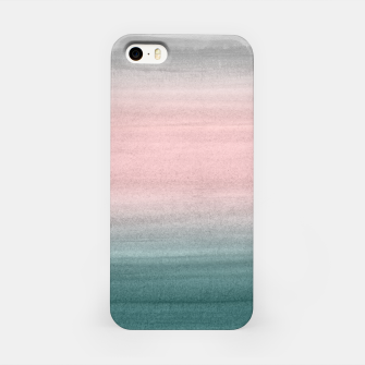 Thumbnail image of Touching Teal Blush Gray Watercolor Abstract #1 #painting #decor #art  iPhone-Hülle, Live Heroes