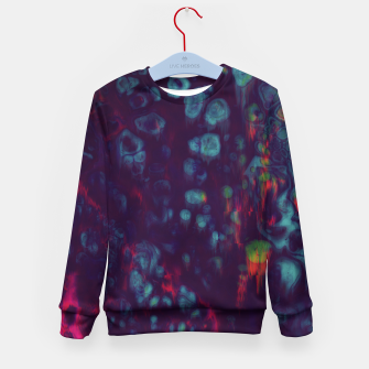 Thumbnail image of Synthwave - Abstract Glitchy Pixel Art Kid's sweater, Live Heroes