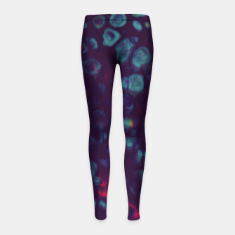 Thumbnail image of Synthwave - Abstract Glitchy Pixel Art Girl's leggings, Live Heroes