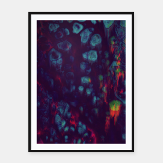 Thumbnail image of Synthwave - Abstract Glitchy Pixel Art Framed poster, Live Heroes