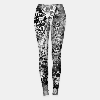 Miniaturka gxp bees fill honeycombs in hive splatter watercolor black white Leggings, Live Heroes
