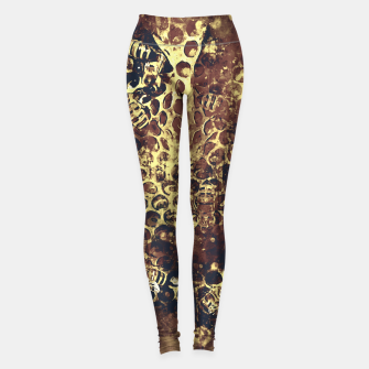 Imagen en miniatura de gxp bees fill honeycombs in hive splatter watercolor old brown Leggings, Live Heroes