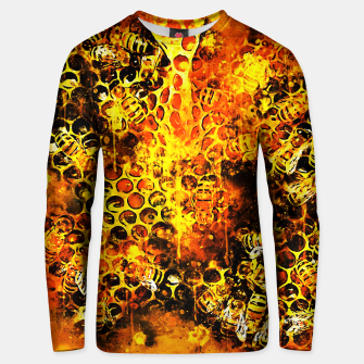 Imagen en miniatura de gxp bees fill honeycombs in hive splatter watercolor Unisex sweater, Live Heroes