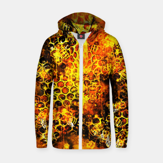 Imagen en miniatura de gxp bees fill honeycombs in hive splatter watercolor Zip up hoodie, Live Heroes