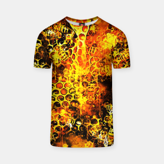 Imagen en miniatura de gxp bees fill honeycombs in hive splatter watercolor T-shirt, Live Heroes