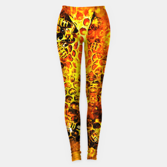 Imagen en miniatura de gxp bees fill honeycombs in hive splatter watercolor Leggings, Live Heroes