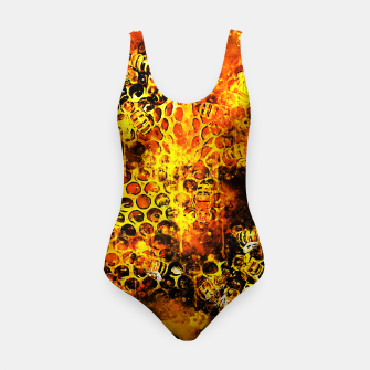 Imagen en miniatura de gxp bees fill honeycombs in hive splatter watercolor Swimsuit, Live Heroes
