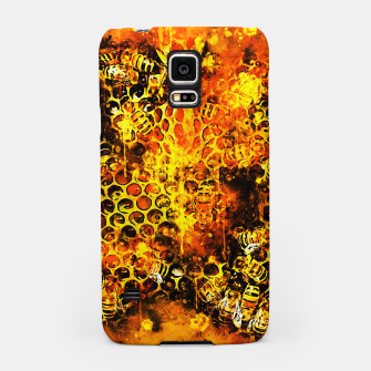 Imagen en miniatura de gxp bees fill honeycombs in hive splatter watercolor Samsung Case, Live Heroes