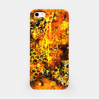 Imagen en miniatura de gxp bees fill honeycombs in hive splatter watercolor iPhone Case, Live Heroes