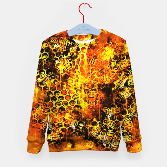 Imagen en miniatura de gxp bees fill honeycombs in hive splatter watercolor Kid's sweater, Live Heroes