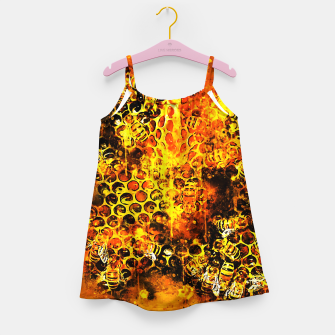 Imagen en miniatura de gxp bees fill honeycombs in hive splatter watercolor Girl's dress, Live Heroes