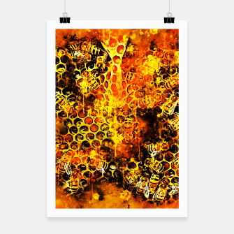 Imagen en miniatura de gxp bees fill honeycombs in hive splatter watercolor Poster, Live Heroes