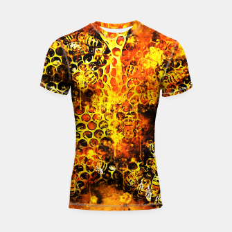Miniatur gxp bees fill honeycombs in hive splatter watercolor Shortsleeve rashguard, Live Heroes