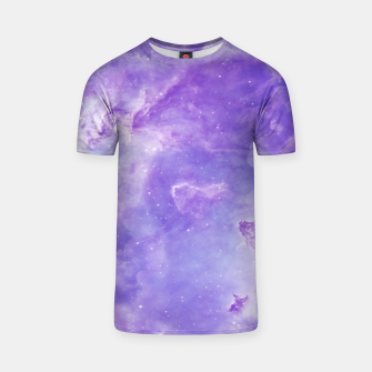 Thumbnail image of Violet clouds galaxy T-shirt, Live Heroes