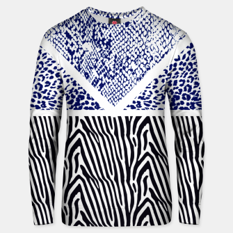Thumbnail image of Blue Animal print Sudadera unisex, Live Heroes