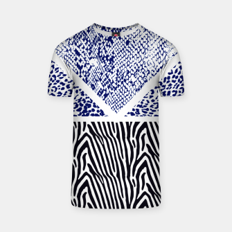 Thumbnail image of Blue Animal print Camiseta, Live Heroes