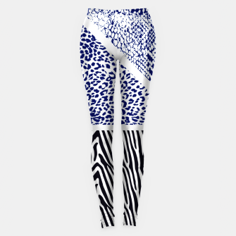Thumbnail image of Blue Animal print Leggings, Live Heroes