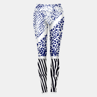 Miniaturka Blue Animal print Leggings, Live Heroes