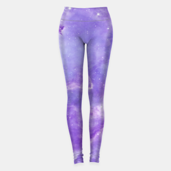Miniaturka Violet clouds galaxy Leggings, Live Heroes