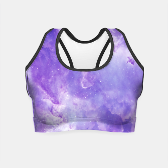 Miniaturka Violet clouds galaxy Crop Top, Live Heroes