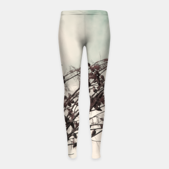 Miniatur Branches Girl's leggings, Live Heroes