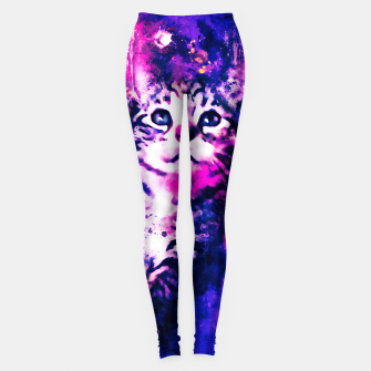 Thumbnail image of gxp pianca baby cat kitten splatter watercolor purple pink Leggings, Live Heroes