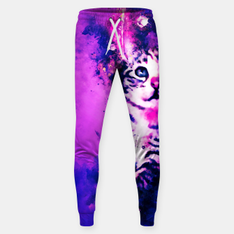 Thumbnail image of gxp pianca baby cat kitten splatter watercolor purple pink Sweatpants, Live Heroes