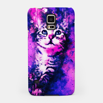 Thumbnail image of gxp pianca baby cat kitten splatter watercolor purple pink Samsung Case, Live Heroes