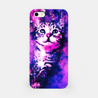 Thumbnail image of gxp pianca baby cat kitten splatter watercolor purple pink iPhone Case, Live Heroes