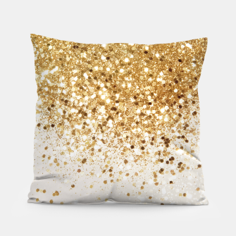 Thumbnail image of Sparkling Gold Glitter Glam #2 #shiny #decor #art  Kissen, Live Heroes