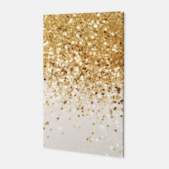 Thumbnail image of Sparkling Gold Glitter Glam #2 #shiny #decor #art  Canvas, Live Heroes