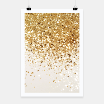 Thumbnail image of Sparkling Gold Glitter Glam #2 #shiny #decor #art  Plakat, Live Heroes